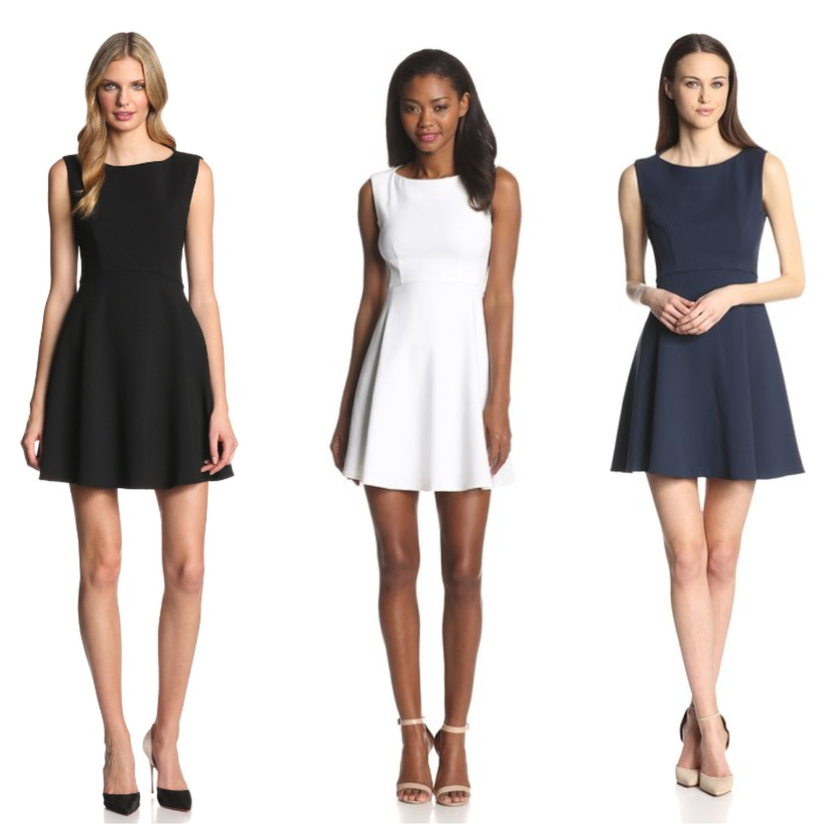 French Connection designer Dress in black, white, and blue