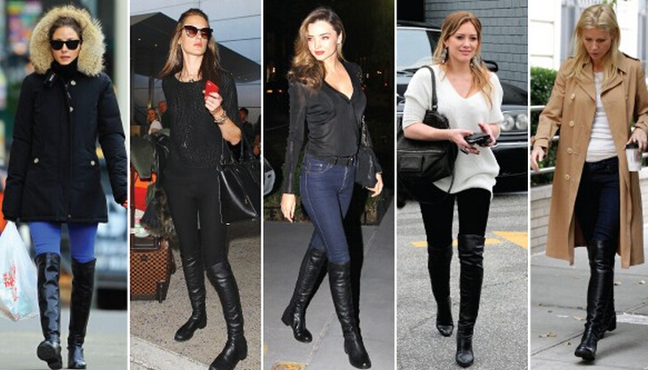 Celebrities in Stuart Weitzman 5050 boots