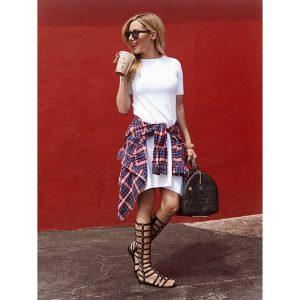 Ashley Tisdale Wearing Stuart Weitzman Gladiator Sandals