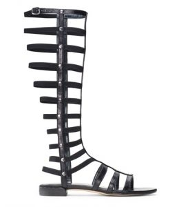 gladiator sandals in black